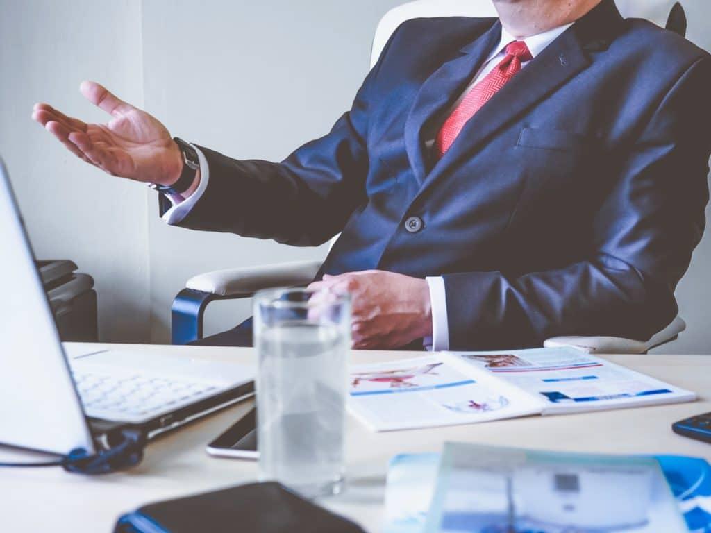 Executive making a decision